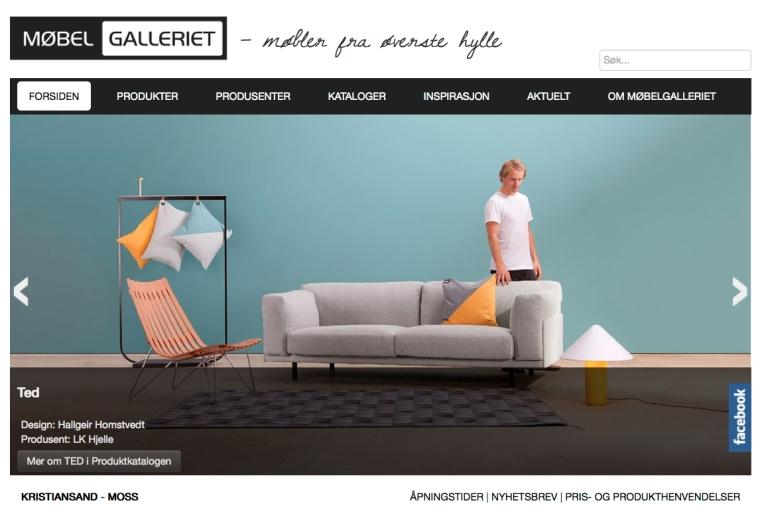 Nettside: Møbelgalleriet